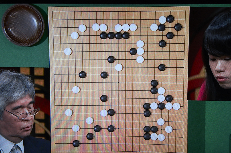 NHK杯戦の囲碁、苑田勇一九段対王景怡女流会津杯