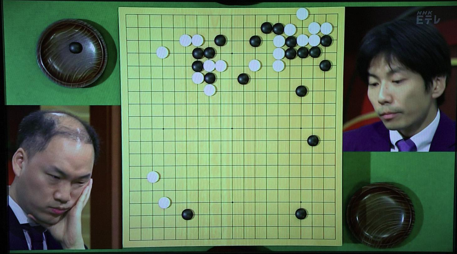 NHK杯囲碁 金秀俊8段 対 溝上知親9段