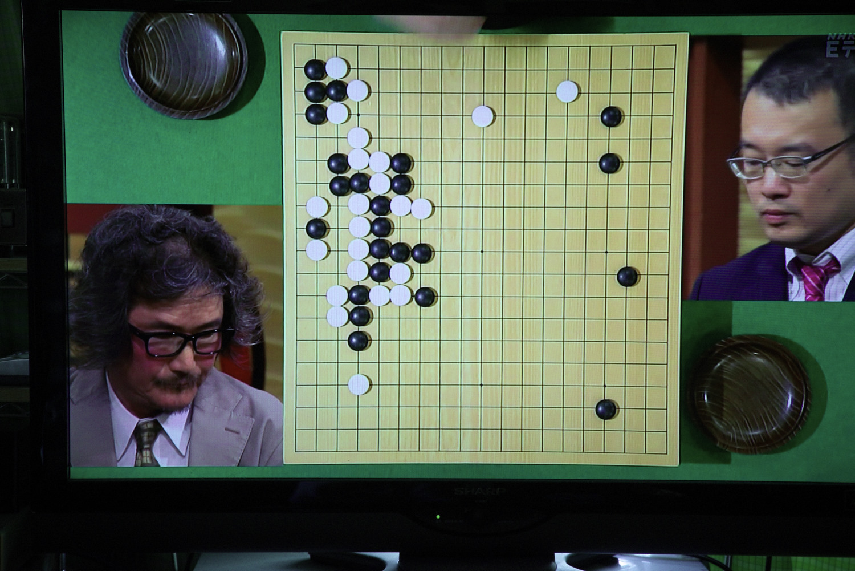 NHK杯戦の囲碁 趙治勲名誉名人 対 結城聡9段