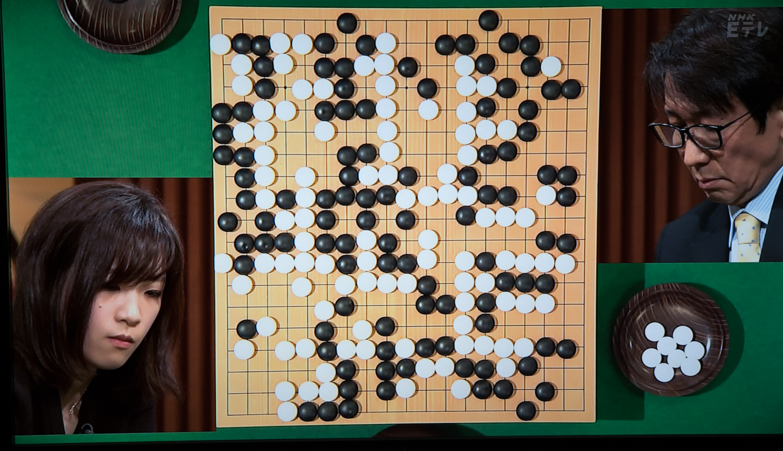 NHK杯戦囲碁 謝依旻女流棋聖 対 小林覚9段