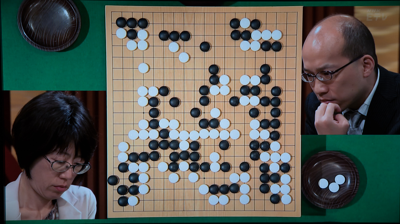 NHK杯戦囲碁 青木喜久代8段 対 張豊猷8段