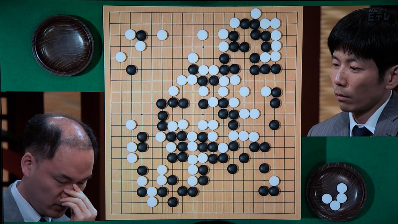 NHK杯戦囲碁 金秀俊8段 対 溝上知親9段