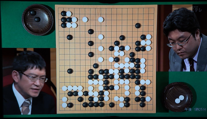NHK杯戦囲碁 秋山次郎9段 対 洪清泉3段