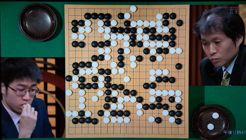NHK杯戦囲碁 許家元4段 対 高尾紳路名人