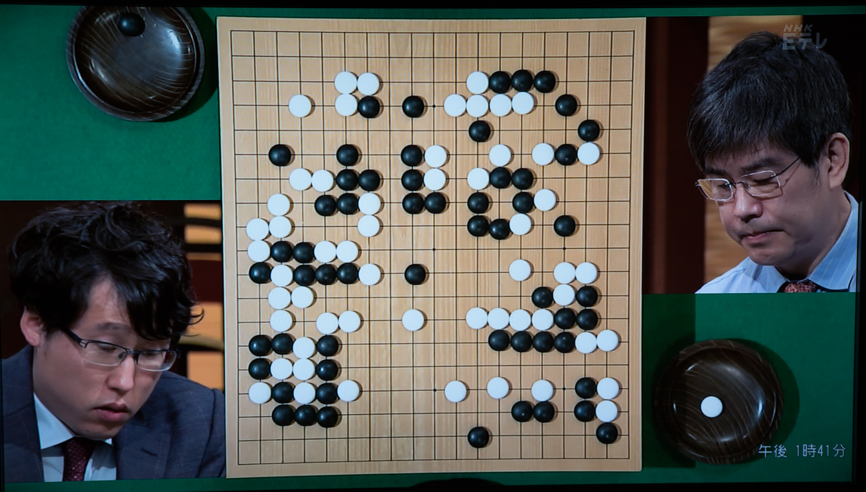 NHK杯戦囲碁 井山裕太棋聖 対 王立誠9段