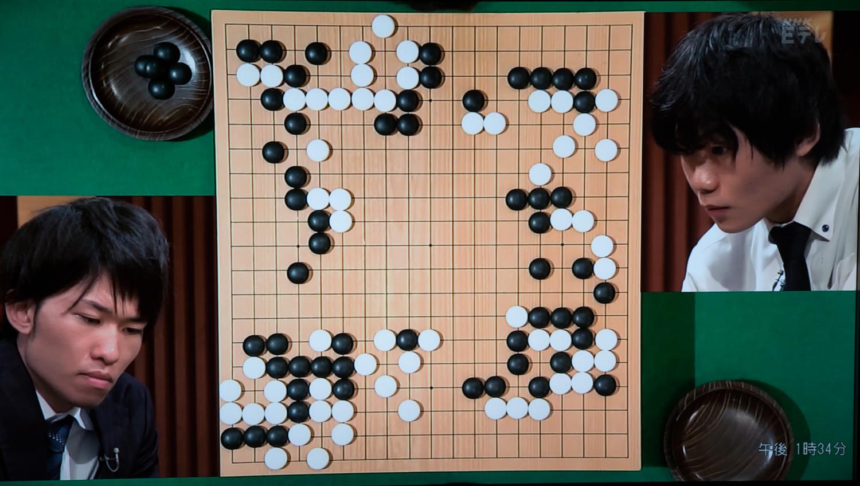NHK杯戦囲碁 本木克弥8段 対 呉柏毅 3段
