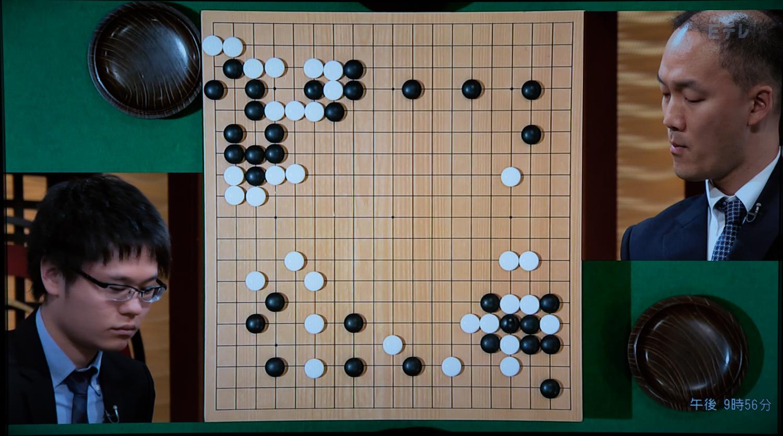 NHK杯戦囲碁 余正麒7段 対 金秀俊8段
