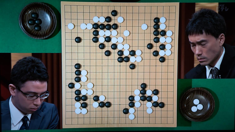 NHK杯戦囲碁 一力遼7段 対 潘善琪8段