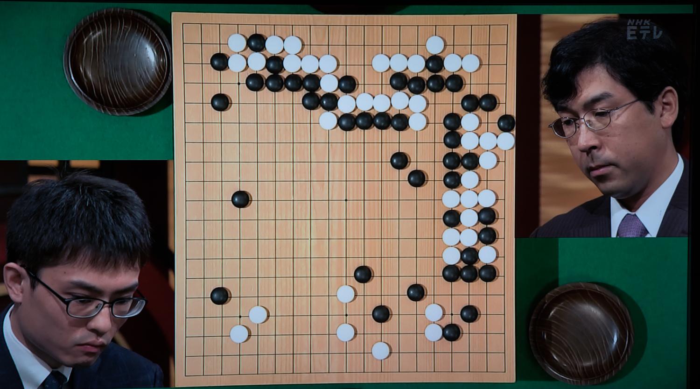 NHK杯戦囲碁 内田修平7段 対 羽根直樹9段