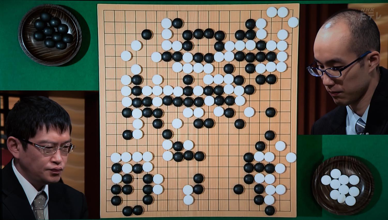 NHK杯戦囲碁 秋山次郎9段 対 黄翊祖8段