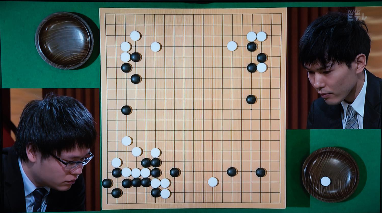 NHK杯戦囲碁 余正麒7段 対 瀬戸大樹8段