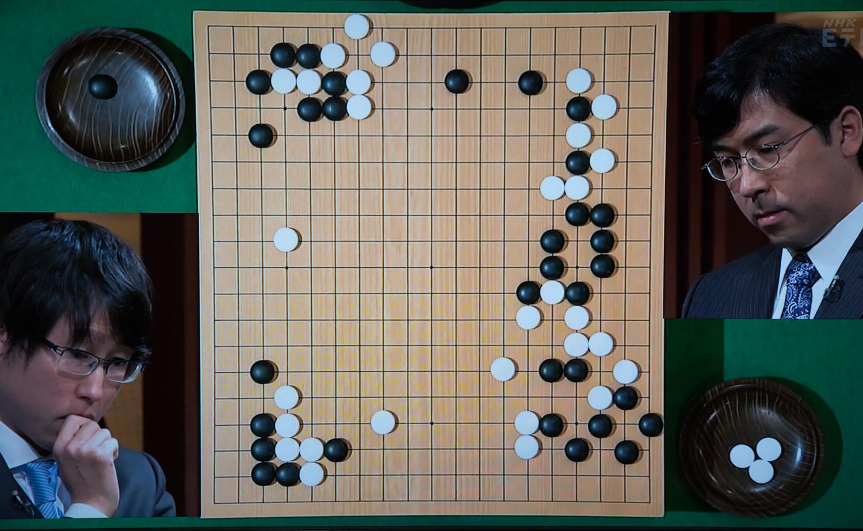 NHK杯戦囲碁 井山裕太7冠 対 羽根直樹9段