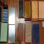 現時点の包丁と砥石のコレクション